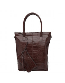 Zebra Trends Natural Bag Kartel Xl Rits Brown afbeelding