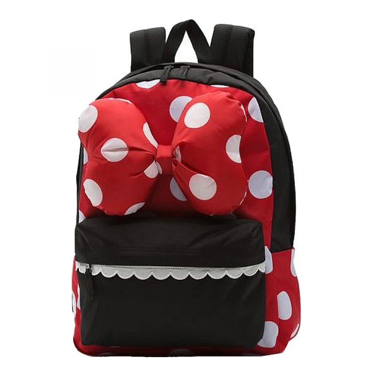 Image Vans Realm Backpack Minnie Racing Red