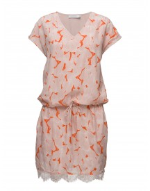 Leaf Print Dress W. Lace Coster Copenhagen Dresses afbeelding