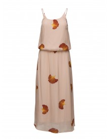Long Dress W. Fan Flower Print Coster Copenhagen Dresses afbeelding