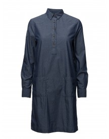 O1. Tp Dobby Chambray Shirt Dress Gant Dresses afbeelding