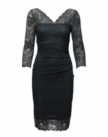 Claudia Lace Dress Kaffe Dresses afbeelding