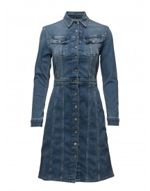 70s Dress High Stake Blue Lee Jeans Dresses afbeelding