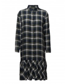 Viscose Check Dalaxy Frill Mads Nørgaard Dresses afbeelding