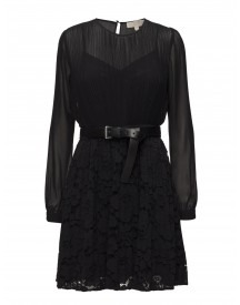 Pleated Lace Mix Drs Michael Kors Dresses afbeelding