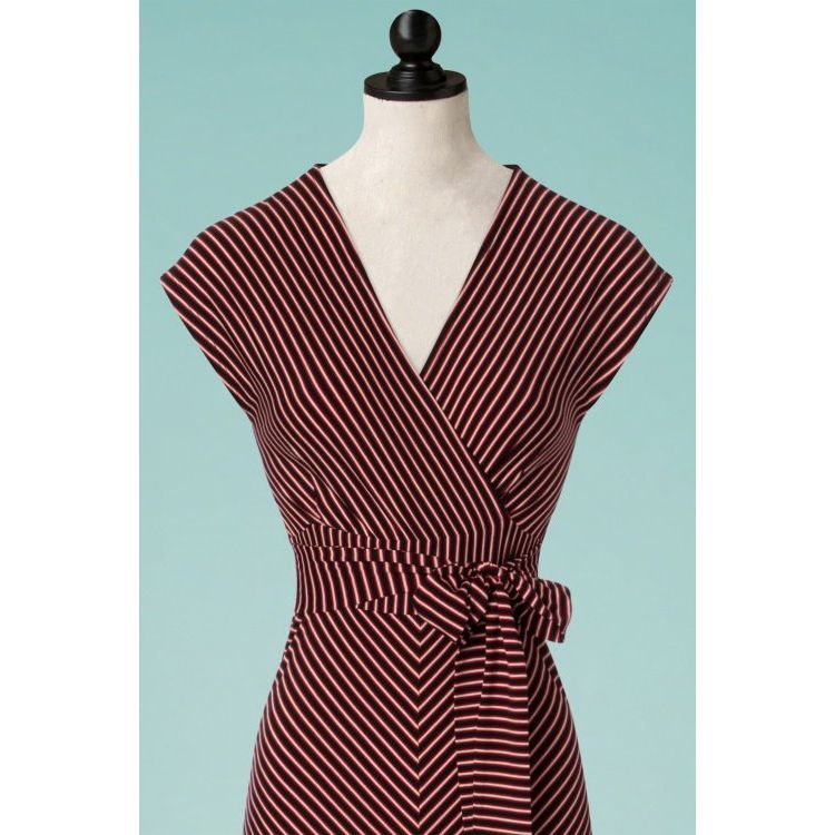 Image 70s Lot Slim Shady Maxi Dress In Ruby Red