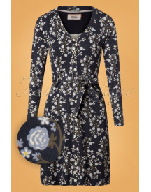 60s Love Rollercoaster Venezia Dress In Blue afbeelding