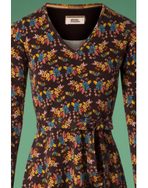 60s The Memphis Train Dress In Brown afbeelding
