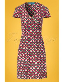60s Tami A-line Dress In Moss afbeelding