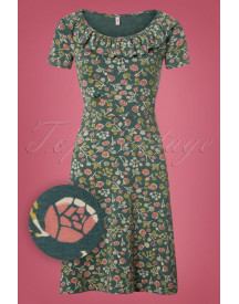 60s Reitzirkel Dress In Home Sweet Home Green afbeelding