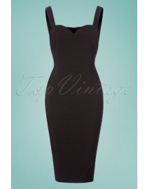 50s Anita Pencil Dress In Black afbeelding