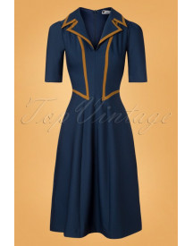 40s Agnefrid Dress In Blue afbeelding