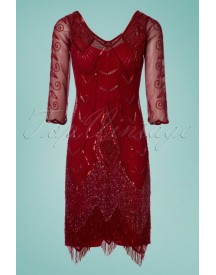 20s Scarlet Fringe Flapper Dress In Red afbeelding