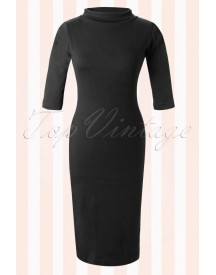 60s Super Spy Dress Black afbeelding
