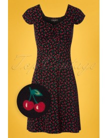 50s Heidi Cherise Dress In Black afbeelding