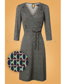 60s Cecil Backbeat Dress In Dark Navy afbeelding
