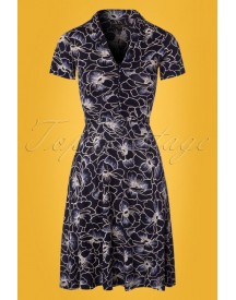 60s Emmy Rosa Canina Dress In Ink Blue afbeelding