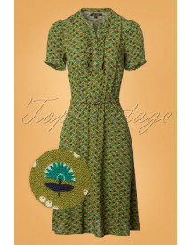 60s Gaya Caramba Dress In Posey Green afbeelding