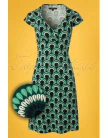 60s Gina Peacock Dress In Rock Green afbeelding
