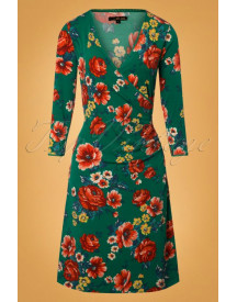 60s Melrose Cross Dress In Fern Green afbeelding