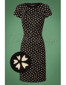 60s Mona Lennox Dress In Black afbeelding