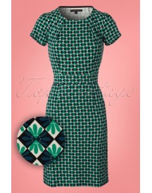 60s Mona Mazapan Dress In Green afbeelding