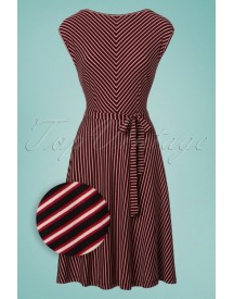 70s Grace Slim Shady Swing Dress In Ruby Red afbeelding