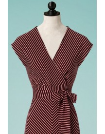 70s Lot Slim Shady Maxi Dress In Ruby Red afbeelding