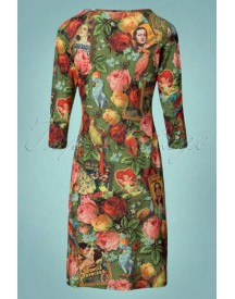 60s Dorothy Dressy Dress In Lalamour Green afbeelding