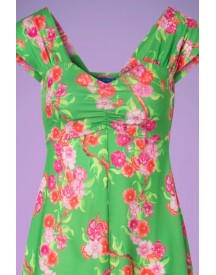 60s Amy Blossom Dress In Spring Green afbeelding