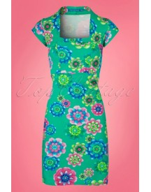 60s Doll Ice Dress In Jade afbeelding