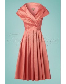 50s Amber Swing Dress In Pearl Pink afbeelding