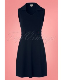 60s Elenda Dress In Navy afbeelding