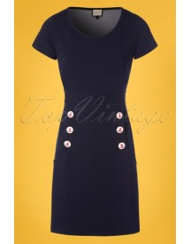 60s Lola Dress In Denim Blue afbeelding