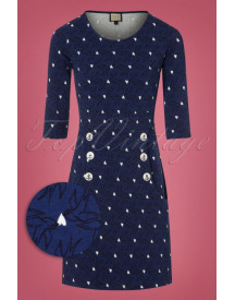 60s Oh My Lola Dress In Blue afbeelding