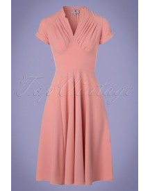 50s Elena Gia Swing Dress In Blush afbeelding