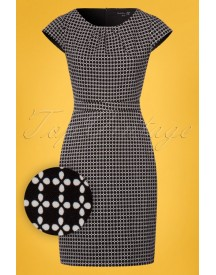 60s Katrina Dress In Black And White afbeelding
