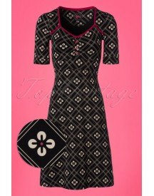 60s Lola Viola Dress In Black afbeelding