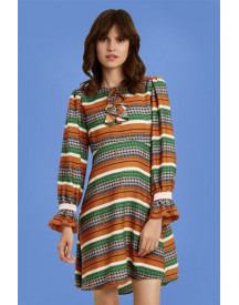 70s The Transition Thrilled Dress In Cognac afbeelding