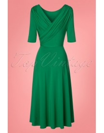 50s Vestido Gold Dress In Green afbeelding