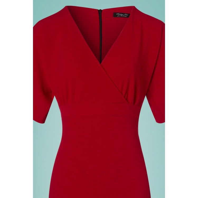 Image 50s Lorraine Pencil Dress In Red