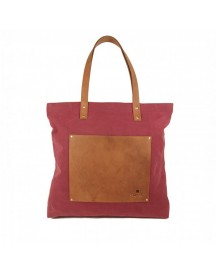 Schoudertas O My Bag Lou's Big Bag Burgundy Canvas afbeelding