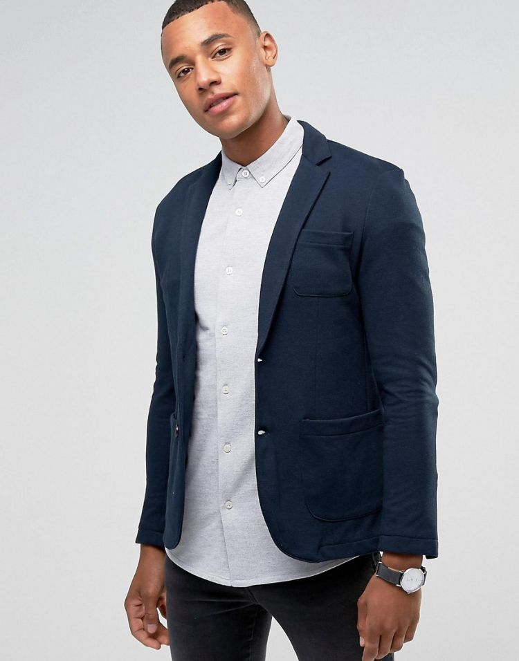 Image Jack & Jones Premium Slim Fit Jersey Blazer