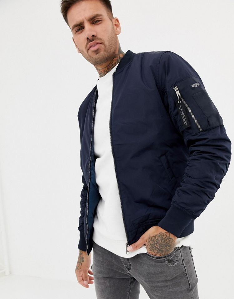 Image Pull&bear Ma1 Bomber In Navy