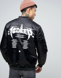 10 Deep Bomber Jacket With Tour Back Print afbeelding