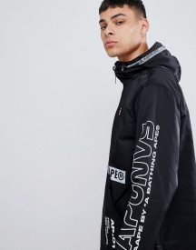 Aape By A Bathing Ape Overhead Jacket With Sleeve Print In Black afbeelding