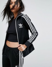 Adidas 3 Stripe Logo Zip Up Jacket afbeelding