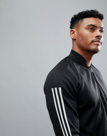 Adidas Athletics Knitted Bomber In Black Cg2130 afbeelding