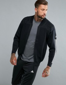 Adidas Training Icon Knit Bomber Jacket In Black B46993 afbeelding