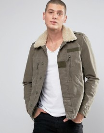 Allsaints Jacket With Shearling Collar afbeelding